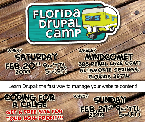 Florida DrupalCamp - Feb 20-21, 2010
